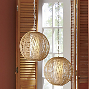 bamboo swag light