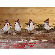 Set Of 4 Snow Birds