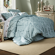 Comforter Set Pintuck Oversized and Decorative Pillows