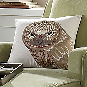 Pillow Embroidered Owl