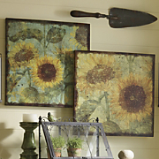 Sunflower Canvases Set Of 2