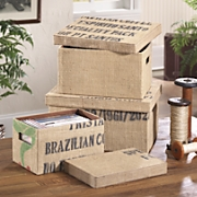 Boxes, Jute Set of 3