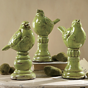 Finials, Bird Set of 3