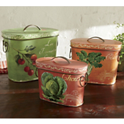 Tins French Country Set Of 3