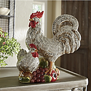 Rooster And Hen Figurine