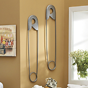 Wall Art Safety Pin Z