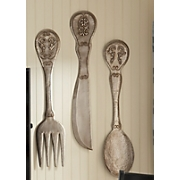 Wall Art Flatware Set Of 3