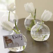 set of 4 mini vase place card holders