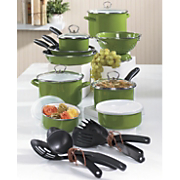 Tivoli Cookware Set Porcelain Enamel 21 Piece
