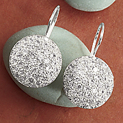 Round Pav Earrings