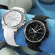 Round Crystal chrono Watch By Kenneth Cole