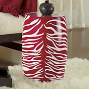 Stool Red Zebra