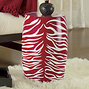 Stool, Red Zebra