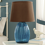 Lamp DecoratorS Choice Blue and Chocolate