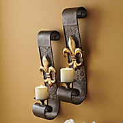 Set Of 2 Fleur de lis Sconces