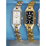 Womens Round Goldtone or Two tone Bracelet Watch by Seiko