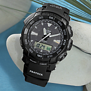 black round resin strap watch by casio