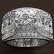 White Topaz Wide Band