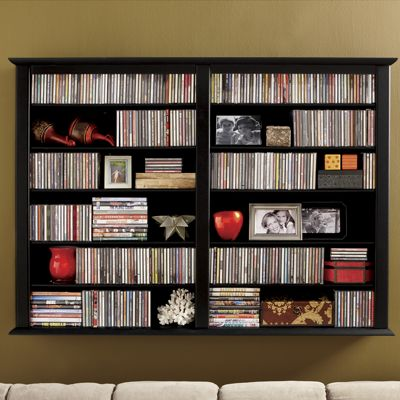 Double Wall Mount Media Cabinet