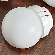 Set Of 3 Round Cfl Light Bulb Covers