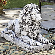 lion in repose statue