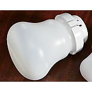 Set Of 3 Large Bell shaped Cfl Light Bulb Covers