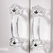 set of 2 glass drawer pulls