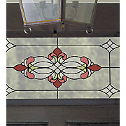 vineyard rose faux stained glass applique