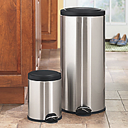Farberware Trash Can Hands Free Stainless Steel With Free 13 Gal Can
