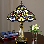 Floral Stained Glass Accent Lamp