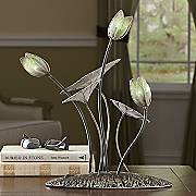lighted plant lamp art