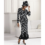 Giraffe print Georgette Ensemble By Tally Taylor