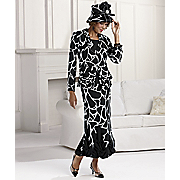 Giraffe print Ensemble And Hat By Tally Taylor