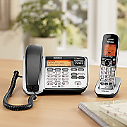 corded cordless phone and answering system by uniden