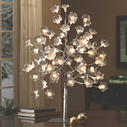 Lighted Silver Flower Tree