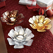 Trio Of Blossoms Votive Holder Set