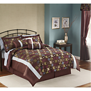 Geo 7 pc Bed Set Valance And Panel Pair