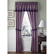 Patricia Purple Valance And Panel Pair
