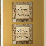 Set Of 2 Believe Wall Plaques