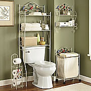 Songbird Space Saver Hamper Tp Holder And Shelf