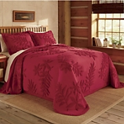 Chenille Leaf Bedspread And Sham