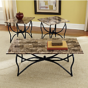 Tables Faux Marble Top 3 Pc Set