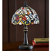 Stained Glass Lamp Floral Accent