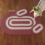 Braided 3 Pc Rug Set