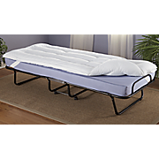 Rollaway Guest Bed and Mattress Topper