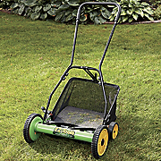 Reel Lawnmower and Grass Catcher