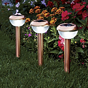 Set Of 3 Coppertone Solar Lights 1