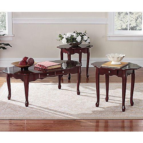 Furniture living room furniture end table queen anne end table