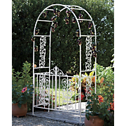 Welcoming Gated Metal Arch