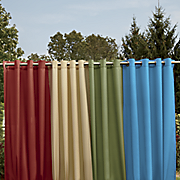solid color grommet panel